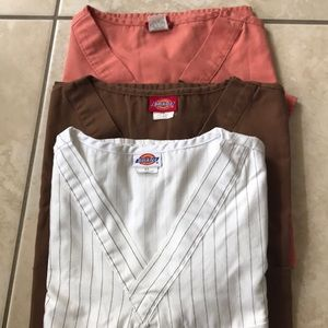 3 small scrub tops for $10